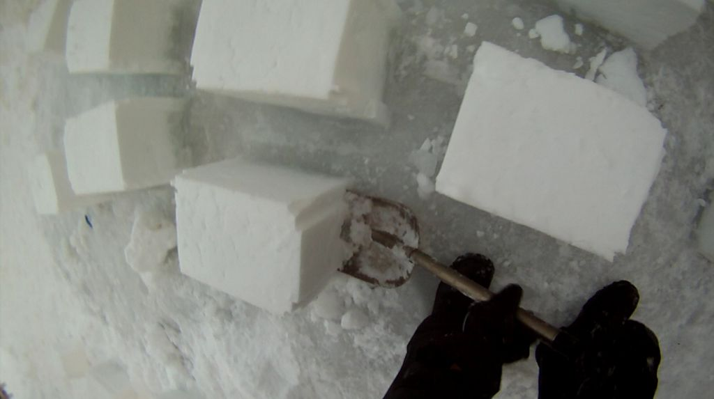 Large snow bricks